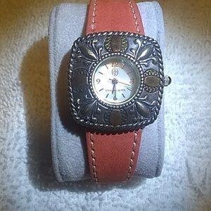 Carolyn Pollack Sterling silver Western watch